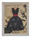 Medium Black Dress withFlowers