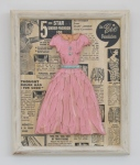 Small Pink Dress with Light BlueBelt